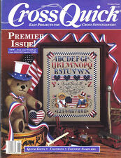 Cross Quick Magazine 1988 Premier Issue EASY PROJECTS for Cross Stitch Lovers