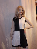 WOMENS RUN & FLY dress vintage retro 60's mod/mary quant style quadrant dress