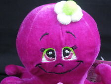 NEW TOY FACTORY PINK FUCHSIA GREEN FLOWER HAT OCTOPUS PLUSH STUFFED ANIMAL