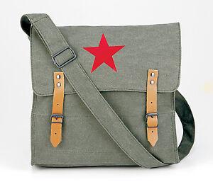 Vintage Canvas Messenger Bags - Stylish Medic Shoulder Bags w/ Leather Straps