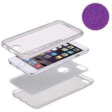 Full TPU Case für Huawei P8 Lite Schutz Hülle Handy Cover Glitzer Violett Neu