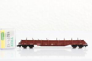 N MINITRIX 15271-12 Rungenwagen Holztransportwagen Güterwagen boxcar OVP J55
