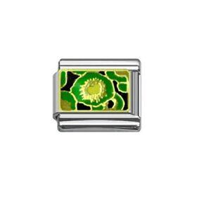 9mm Italian Charms E137 Fruit Kiwi Pattern Design Fits Classic Size Bracelet