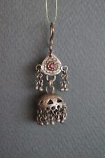 Drop by $6   Very Rare Old Tibet Or Pakistan Silver Earring-2-1(one of a pair)