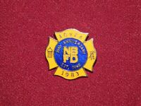 VINTAGE PIN PINBACK 1983 NBFD ACVFA FIREMAN FIRE DEPARTMENT