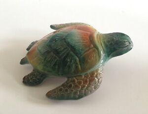 MAGGIE BELL POTTERY HAND MADE SIGNED TURTLE BARBADOS COLLECTABLE