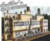 BAR MILLS 121 N Scale Seckler's Cold Storage Building Railroad Kit FREE SHIP