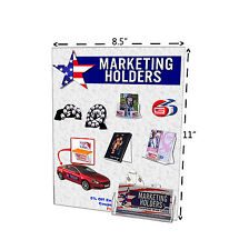 8.5'W x 11'H Wall Mount Sign Holder with Business Card Pocket
