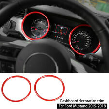 Red Interior Dashboard Ring Cover Trim Decor For Ford Mustang 15-18 Accessories