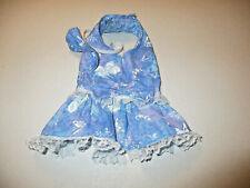 XS Dog dress [Butterfly, lace] cotton handmade