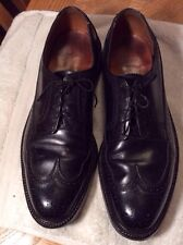 VINTAGE FLORSHEIM BLACK LEATHER WINGTIPS MENS 10.5C SHOES