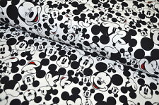 JERSEY DISNEY MICKEY MOUSE USA Tissu design 0,5 m MINNIE MOUSE VISAGES RARE