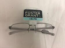 NEW Foster Grant Reading Glasses Silver Frames +2.75 Strength