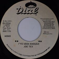 JOE TEX: I've Seen Enough / Trying to Win Your Love DIAL USA Soul PROMO 45