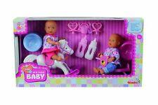MINI Nuovo Born Baby 2 bambini con cavallo a dondolo, tricicli e accessori