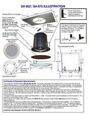 "AMK SA872 Ceiling Speakers 8"" 70v or 8ohm - 2 speakers per box"
