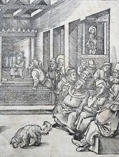 HOLZSCHNITT HANS WECHTLIN CHRISTUS UNTER DEN SCHRIFTGELEHRTEN NIEDERDEUTSCH 1510