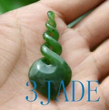 Green Nephrite Jade Quad Twist Pendant Maori Pounamu Greenstone Necklace