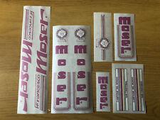 NOS Francesco Moser Original Decal Set, White, 1970s/1980s Not Reproduction