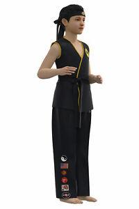 Karate Kid Cobra Kai Cosplay Top Pants Outfits Halloween Carnival Suit Adult