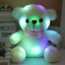 Light Up LED Cute Teddy Bear Stuffed Plush Toys Doll Girl Kids Birthday Gifts