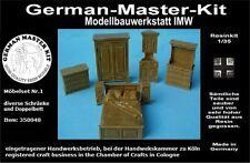 350048, Möbel Set No. 1, Schränke usw., 1:35 Resin, GMKT World of War II