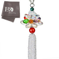 Crystal Suncatcher Colorful Glass Pendant Car Rearview Mirror Hanging Pendant