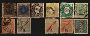 Portugal Portuguese India used stamps cancel postmarks Mugao Mapusa Pernem $$
