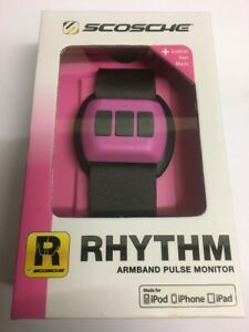 BNIB Scosche Rhythm Bluetooth Wrist / Armband Heart-Rate Pulse Monitor Pink