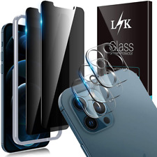 More details for lϟk 5 pack privacy screen protector compatible with iphone 12 pro max black