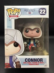Funko Pop Vinyl CONNOR #22 ASSASSIN'S CREED 3 (Rare & Vaulted) in Protector