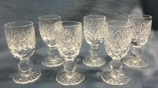 SET OF 6 WATERFORD CRYSTAL ALANA ROUNDED CORDIALS/ LIQUEUR SIGNED