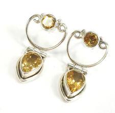 Citrine Pear Natural Not Enhanced Fine Earrings