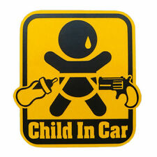 Child in Car safety sign stickers decal racing emblem warning  infant baby funny