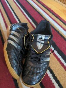 Adidas Heritagio Black Leather Trainers Mens Size 11 Vintage