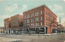 Waterloo Iowa~Ellis Barber Shop & Hotel~Iekel Drugstore~Fire Escapes 1909
