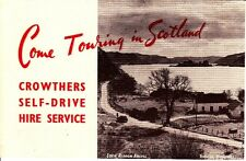 Come Touring In Scotland Crowthers Self-Drive Hire Service Glasgow Brochure