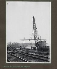 PHOTO Train Chemin de Fer Élargissement du Pont Clos-Montholon 1935 Rails