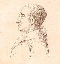 Portrait XIXe Pierre-Augustin Caron de Beaumarchais Siècle des Lumières 1821