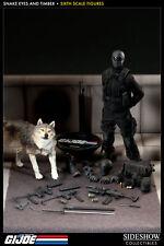Sideshow Gi Joe Snake Eyes & Timber 1/6 Scale Figure Set Cobra Ninja Assassin