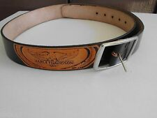 HARLEY DAVIDSON BELT SIZE 36 USA, GENUINE FULL GRAIN COW HIDE