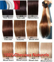 50-200 EXTENSIONS CHEVEUX POSE A CHAUD REMY NATURELS 49/60CM 0,5G-1G AAA PRO+