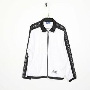90s ASICS Tape Logo Tracksuit Top Jacket White XL