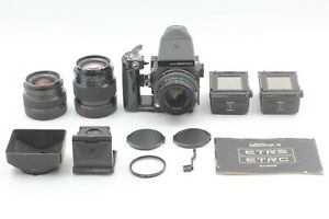 *EX+5* ZENZA BRONICA ETRS w/MC 50mm,75mm,150mm F/2.8 Lens,Film Backx2,Bonus Set