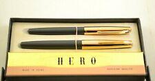 Vintage HERO 329 Burgundy Set, Arrow Fountain Pen EF Nib and Ballpoint pen