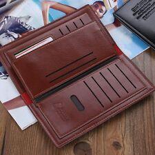 Men Business Long Leather Wallet Bifold Clutch Purse Credit Card Holder Bag US