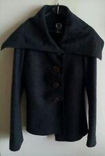 Giacca in lana vergine 100%, da donna, taglia 42, colore grigio