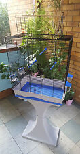 Large Bird Cage with Plastic Stand Feeder Seat Waste Box Budgies Parrot Canarie