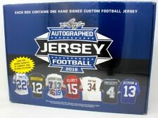 2018 LEAF AUTOGRAPHED FOOTBALL JERSEY EDITION BOX BLOWOUT CARDS