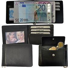 Dollarclip Geldbörse mit Münzfach Rindleder Geldspange Geldklammer / Wallet 8310